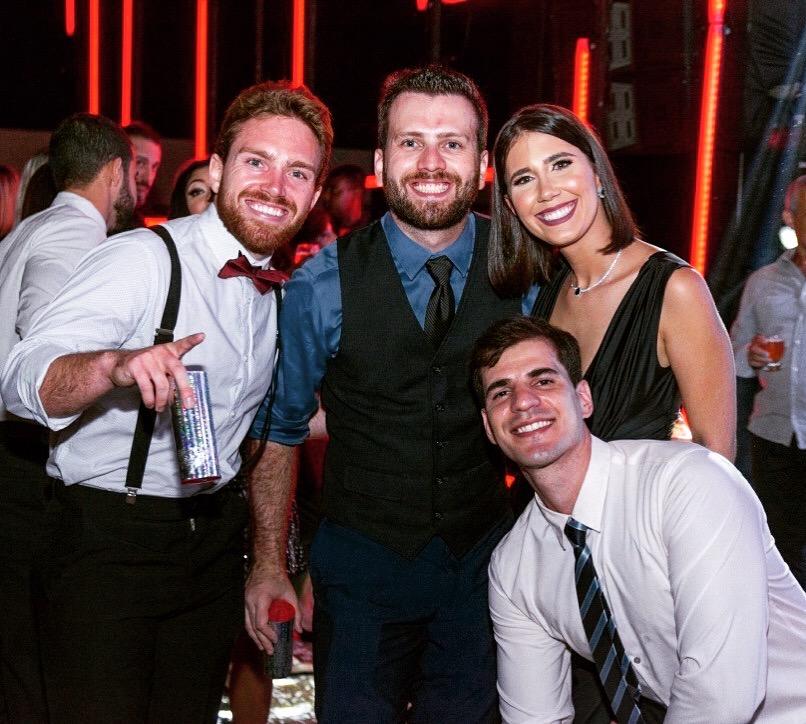 group photo at wedding