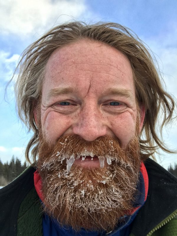 Man with icicles in beard