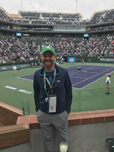 spectator at tennis tournament